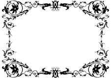 Black and white ornamental frame Stock Images