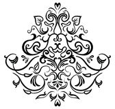Black-white ornamental frame. Design elements with batterfly, EPS8 Stock Illustration
