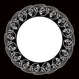 Black and white ornamental round frame Stock Photos