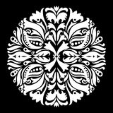 Black and white ornamental round lace Stock Photos