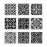 Black and white ornamental textures Royalty Free Stock Photo