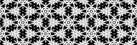 Black and white ornaments pattern Stock Image