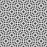 Ornamental seamless pattern. Black and white Royalty Free Stock Photography
