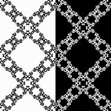 Ornamental seamless patterns. Black and white Stock Image