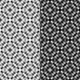 Ornamental seamless patterns. Black and white. Black and white ornaments. Set of seamless backgrounds for wallpapers, fabrics. Vector illustration vector illustration