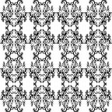 Black and White Ornate Pattern. A black and white ornate pattern with scrolls, waves, and bubbles in the design Vector Illustration