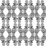 Black and White Ornate Pattern. A black and whiteornate pattern with swirls, waves, and bubbles in the design Royalty Free Illustration