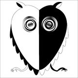 Black and white owl Stock Image