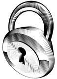 Black and white padlock Stock Photography