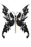 Black and white paint made butterfly Royalty Free Stock Photos