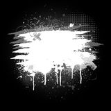 Black and white paint splatter Royalty Free Stock Photography