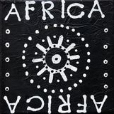 Black and white painting afric royalty free stock images