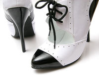 Black and White Pair of Heels Stock Images