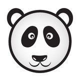 Black and white panda bear head Royalty Free Stock Photo