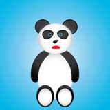 Black and white panda cartoon Royalty Free Stock Image