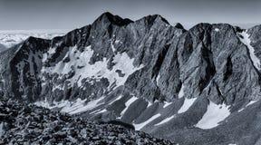 Black & White Panorama - Colorado Rocky Mountains, Sangre de Cristo Range Stock Photography