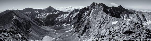 Black & White Panorama - Colorado Rocky Mountains, Sangre de Cristo Range Stock Images