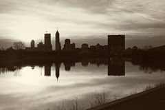 Black and White panorama of Indianapolis Stock Photography
