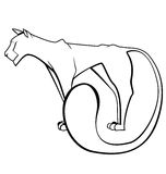 Black and white panther vector Royalty Free Stock Images