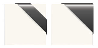 Black and white paper corners Royalty Free Stock Photography