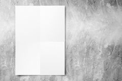 Black White paper poster hanging at concrete wall,Template mock. Up for adding your text stock photos