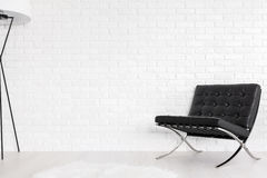 Black and white paragon of modernist decor Royalty Free Stock Photography
