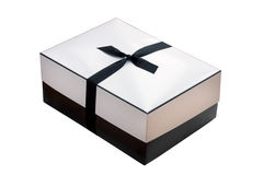 Black and White Parcel with Bow Stock Photos