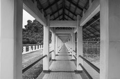 Black and white pathway Royalty Free Stock Images