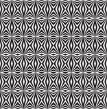 Black and white pattern. Optical illusion in zigzag pattern Stock Illustration