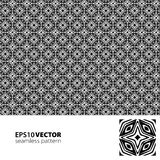 Black-white pattern_4. Vector seamless black-white pattern. This is file of EPS10 format Royalty Free Stock Images