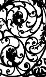 Black and white pattern. Black pattern on a white background in a gothic style Stock Photography