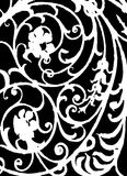 Black and white pattern. White pattern on a black background Royalty Free Stock Photo