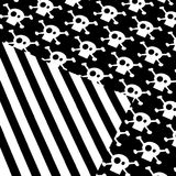 Black and white pattern. A background of an abstract pattern in black and white Stock Photos