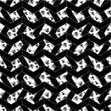 Black and white pattern background icon great for any use. Vector EPS10. Vectors and icons set for any use Stock Photos