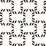 Black and white pattern. Black and white background. Regular pattern with stylized floral elements. Vector seamless repeat Stock Images