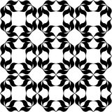 Black and white pattern. Black and white background. Regular pattern with stylized floral elements. Vector seamless repeat Stock Photos
