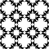 Black and white pattern. Black and white background. Regular pattern with stylized floral elements. Vector seamless repeat Royalty Free Stock Photo