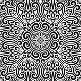 Black and white pattern. Black and white background, vintage ornament, seamless pattern Stock Photo