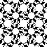 Black and white pattern. Black and white background. Regular pattern with stylized floral elements. Vector seamless repeat Stock Photo