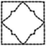 Black - white pattern in Celtic and Arabic style. One black-and-white pattern weaving into another pattern. The patterns are made in the Celtic or Arabic style vector illustration