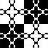 Black and white pattern. Black and white chess seamless pattern of semi circles royalty free illustration