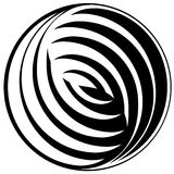 Black and white pattern in a circle. Stock Photos