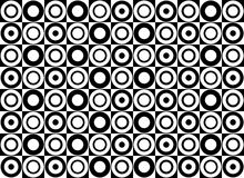 Black & White pattern of circles. Vector Vector Illustration