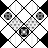 Black and white pattern with circles Stock Photography