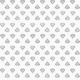 Black and white pattern with diamonds. Vector seamless pattern with little diamonds arranged in rows Stock Photography