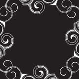 Black and white pattern frame Royalty Free Stock Photo