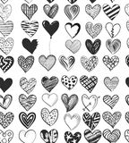 Black And White, Pattern, Heart, Design stock image