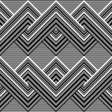 Black and white pattern by lines Royalty Free Stock Images