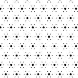 Black white pattern with modern abstract ornaments. Black white pattern with modern abstract, elementary ornaments royalty free illustration