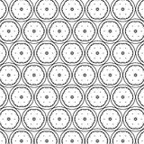 Black white pattern with modern abstract ornaments. Black white pattern with modern abstract, elementary ornaments stock illustration